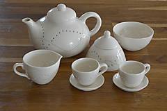 Nádoby - Madeirový porcelánový mliečnik vzor vlnky - 11132650_
