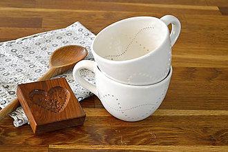 Nádoby - Madeirová porcelánová maxi šálka - 11132644_