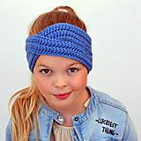 Detské čiapky - Krížená merino čelenka (58 farieb) - 11131860_