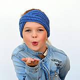 Detské čiapky - Krížená merino čelenka (58 farieb) - 11131861_