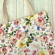 Nákupné tašky - Kvetinová nákupná taška - 11132639_