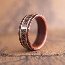 Prstene - Drevená obrúčka- Čičmany - 11132662_