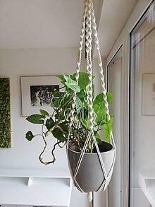 Dekorácie - Makramé držiak na kvetináč 68cm - 11130504_