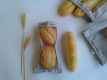 Úžitkový textil - Vrecúško na chlieb a pečivo - sivé - 11132461_