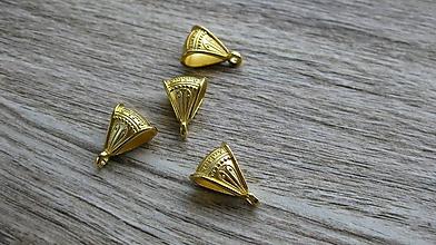 Komponenty - Šlupňa ozdobná 1 ks (zlatá) - 11130668_