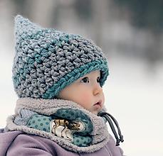Detské čiapky - Skřítek od březového lesa (obvod do 45 cm) - 11133098_