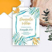 Papiernictvo - svadobné oznámenie DOMINIKA - 11133147_