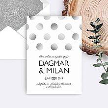 Papiernictvo - svadobné oznámenie DAGMAR - 11133211_