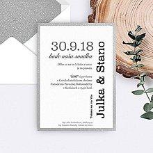 Papiernictvo - svadobné oznámenie JULKA - 11133239_