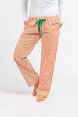 Pyžamy a župany - Laggar dámske pyžamové nohavice (Bledomodrá L) - 11130525_