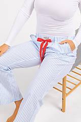 Pyžamy a župany - Laggar dámske pyžamové nohavice (Bledomodrá L) - 11130528_