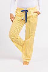 Pyžamy a župany - Laggar dámske pyžamové nohavice (Bledomodrá L) - 11130589_