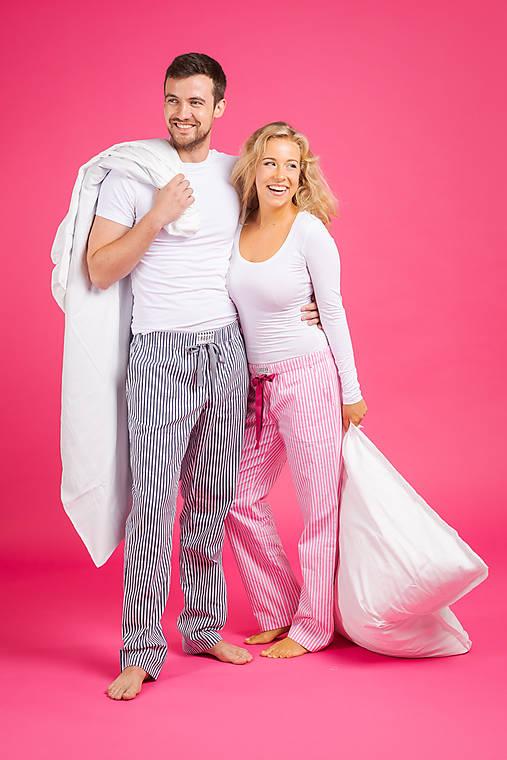 Laggar dámske pyžamové nohavice (Bledomodrá L)
