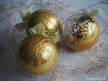- ZLATÉ vianočné gule s 3D fotkou - 11133062_