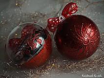 Dekorácie - ČERVENÉ vianočné guľe s 3D fotkou - 11133142_