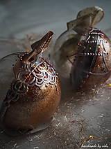 - ROSE GOLD vianočné guľe s 3D fotkou - 11133154_