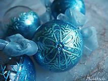 Dekorácie - MODRÉ vianočné gule s 3D fotkou - 11133159_