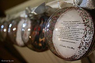 Dekorácie - OBOJSTRANNÉ vianočné gule s 3D fotkou - 11133375_