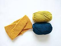 Čiapky - Turban čelenka - farby jesene (Žltá) - 11130365_