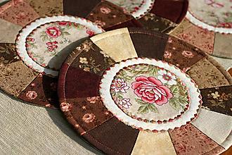 Úžitkový textil - prestierania hnedé - 11131055_