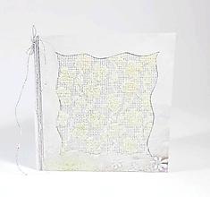 Papiernictvo - Zimná lúka plná kvetov - folk vyšívaný pozdrav - 11130388_