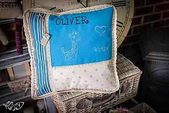 """Úžitkový textil - Vankúšik pre novorodenca """"Oliver"""" - 11136309_"""