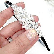 Ozdoby do vlasov - Wedding Beaded Headband / Svadobná korálková čelenka - 11134297_