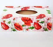 Krabičky - Krabička na servítky- vlčie maky - 11136180_
