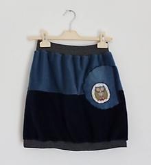 Sukne - Fleecová sukně SOVIČKA s kapsou - 11135269_