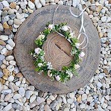 Ozdoby do vlasov - Kvetinový venček Ružový sen - 11135826_