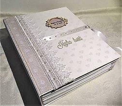 Papiernictvo - Veľká hrubá Kniha hostí biela - 11134161_
