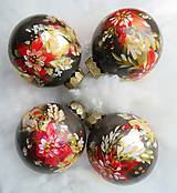 Dekorácie - Vianočné gule ručne maľované - 11136580_