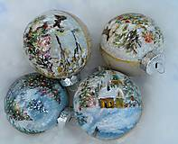 Dekorácie - Vianočné gule ručne maľované - 11136619_