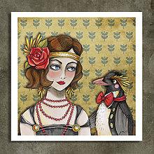 Grafika - Art deco s tučniakom. - 11134543_