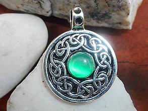 Náhrdelníky - encanto Celtic flor-achát - 11136770_