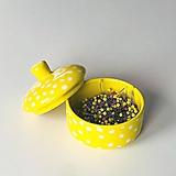 Nádoby - Žltá cukornička - 11134503_
