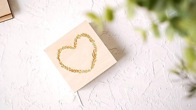 Prstene - Drevená krabička na obrúčky personalizovaná - 11134540_