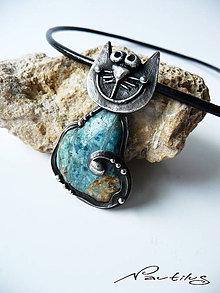 """Náhrdelníky - Cínový šperk """"Mačací kamoš"""" - 11135667_"""