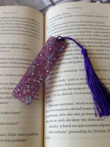 """Knihy - Záložka ,,fialová"""" - 11134443_"""