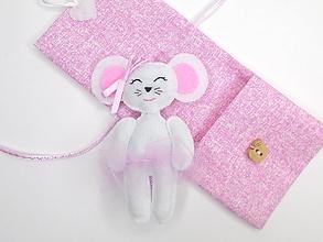 Hračky - Drobnosti v kapsičke pre dievčatá (Myšička: biela) - 11134062_