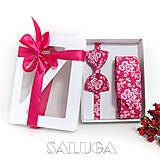 - Darčekový balíček - kazeta - motýlik + kravata - 11136299_