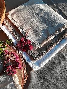 Úžitkový textil - Ľanová kuchynská utierka  (Hnedá) - 11136581_