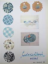 Úžitkový textil - Čučoriedková - Čiapočky na zaváraniny - sada modrá - 11134987_
