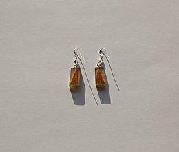 Náušnice - Náušnice zo živice - Zaliate trojuholníky - 11136258_