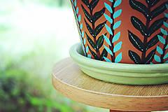 Nádoby - Terakotový kvetináč - Rastlinkový (veľký) - 11136592_