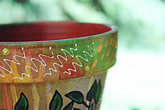 Nádoby - Terakotový kvetináč - Jeseň (väčší) - 11136771_