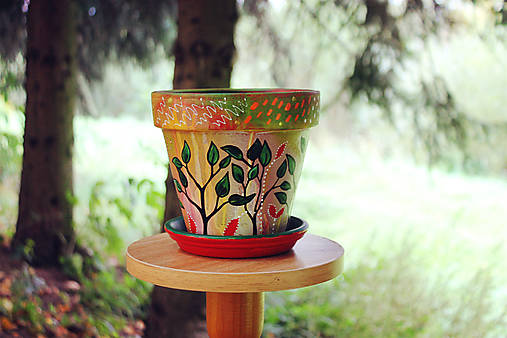 Terakotový kvetináč - Jeseň (väčší)