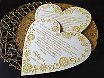 Darčeky pre svadobčanov - Poďakovanie rodičom - XXL - 11135413_