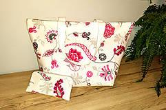 Kabelky - Ľanová taška s peňaženkou - 11134065_