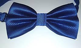 Doplnky - Pánsky elegantný motýlik - kráľovsky modrý - 11134460_